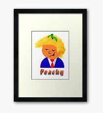 Wacky Peachy Framed Print
