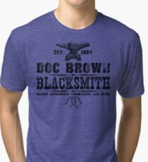 Doc Brown Blacksmith - Back to the Future Inspired Design Tri-blend T-Shirt
