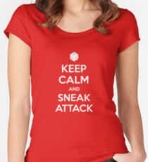 Keep calm and sneak attack Women's Fitted Scoop T-Shirt