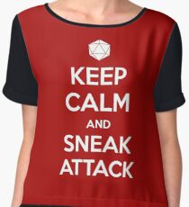 Keep calm and sneak attack Women's Chiffon Top