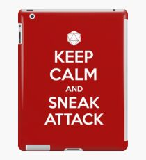 Keep calm and sneak attack iPad Case/Skin