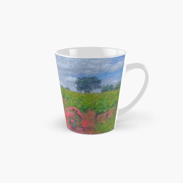 Vineyard Roses in a Van Gogh Landscape Tall Mug