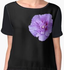 Purple hibiscus flower Women's Chiffon Top