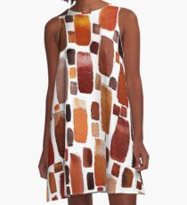 Earth Stones Abstract A-Line Dress