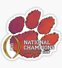 Clemson Tigers 2017 National Champions NCAAF Sticker