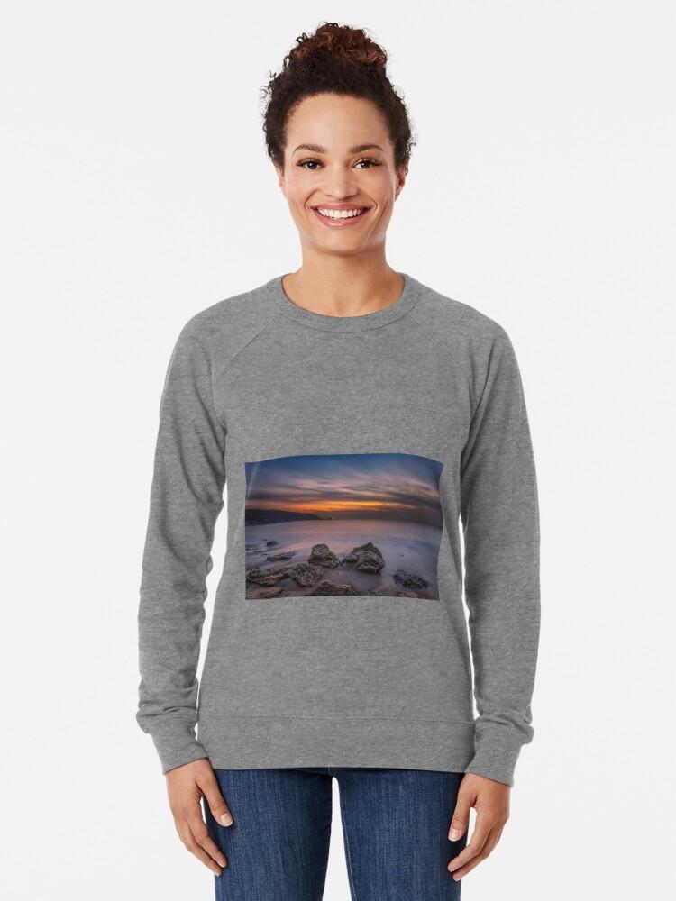 Alternate view of Alum Bay Sunset #2 Lightweight Sweatshirt