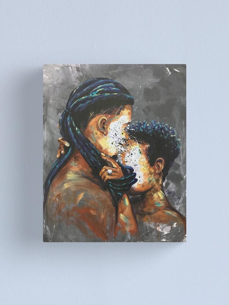 Alternate view of Naturally Black Love II Canvas Print