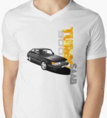 Camiseta para hombre de cuello en v Camiseta Saab 900 turbo Graphic
