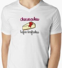 Cheesecakes Before Beefcakes Men's V-Neck T-Shirt