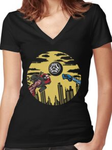 Rocket League Video Game Inspired Gifts Women's Fitted V-Neck T-Shirt