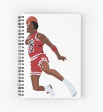 MJ Sticker Spiral Notebook