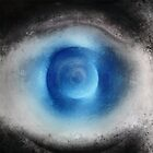 Blue Eye Abstract by Dirk Wuestenhagen