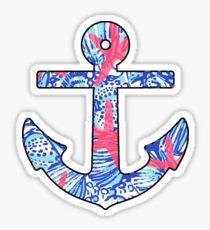 Lilly Starfish Anchor Sticker