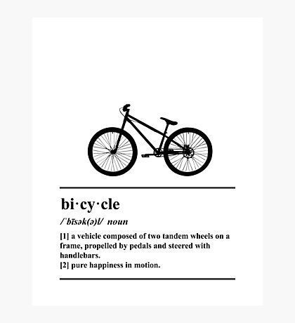 Bicycle Definition - Happiness In Motion Photographic Print