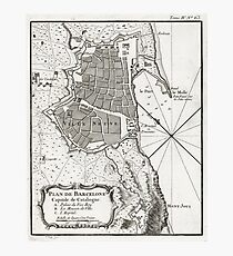 Plan of Barcelona - 1764 Photographic Print