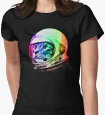 Astronaut Space Cat (digital rainbow version) Women's Fitted T-Shirt