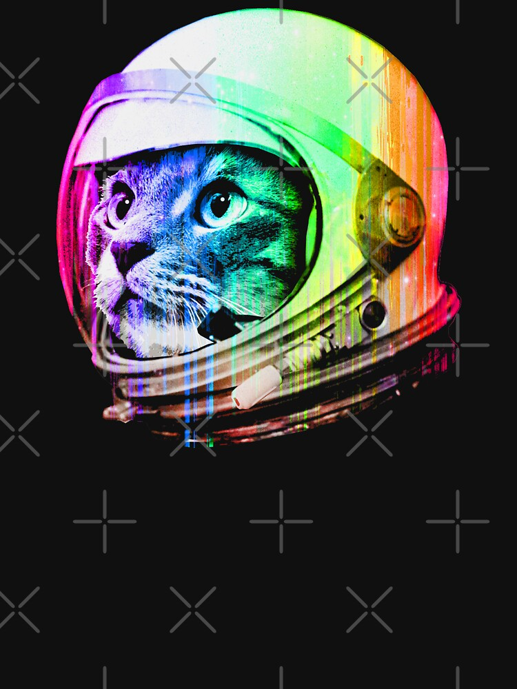 Astronaut Space Cat (digitale Regenbogenversion) von robotface