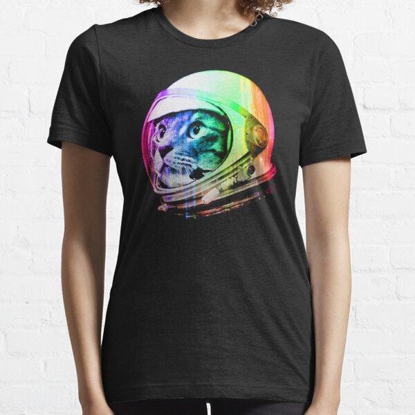 Astronaut Space Cat (digital rainbow version) Essential T-Shirt
