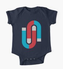 Magnetize Short Sleeve Baby One-Piece