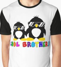 Cool Brothers PenguinT-shirt Big Funny Brother Tshirt Graphic T-Shirt