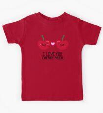 Pixelated Cherry Love Kids Tee