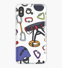 climbing doodle pattern iPhone Case/Skin
