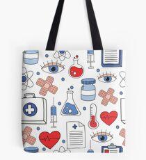 medical doodle pattern Tote Bag