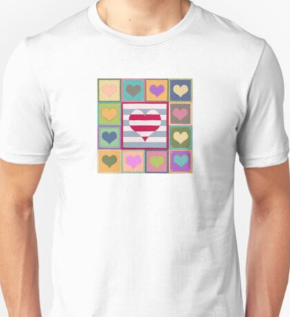 Hearts patchwork T-Shirt