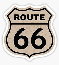 Route 66 sign illustration Sticker