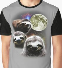 Funny Space Sloths  Graphic T-Shirt