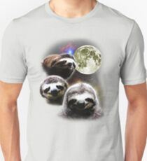 Funny Space Sloths  Slim Fit T-Shirt