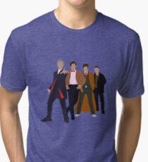Doctor Who - 4 Modern Doctors Tri-blend T-Shirt