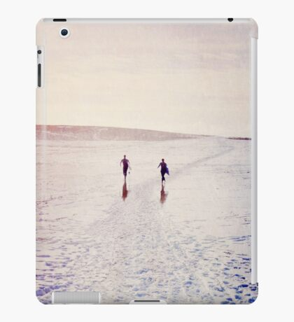 Surfers in the snow. iPad Case/Skin
