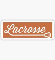 Lacrosse Font with Stick Burnt Orange Sticker