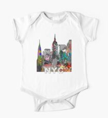 New York City Graffiti One Piece - Short Sleeve