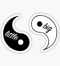 Big Little Yin Yang Sticker