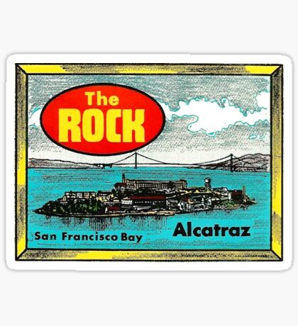 The Rock Alcatraz San Francisco Vintage Travel Decal Sticker