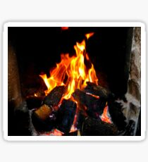 The Warmth Of An Irish Turf Fire Sticker