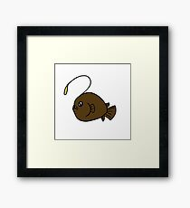 Lonely Angler Framed Print