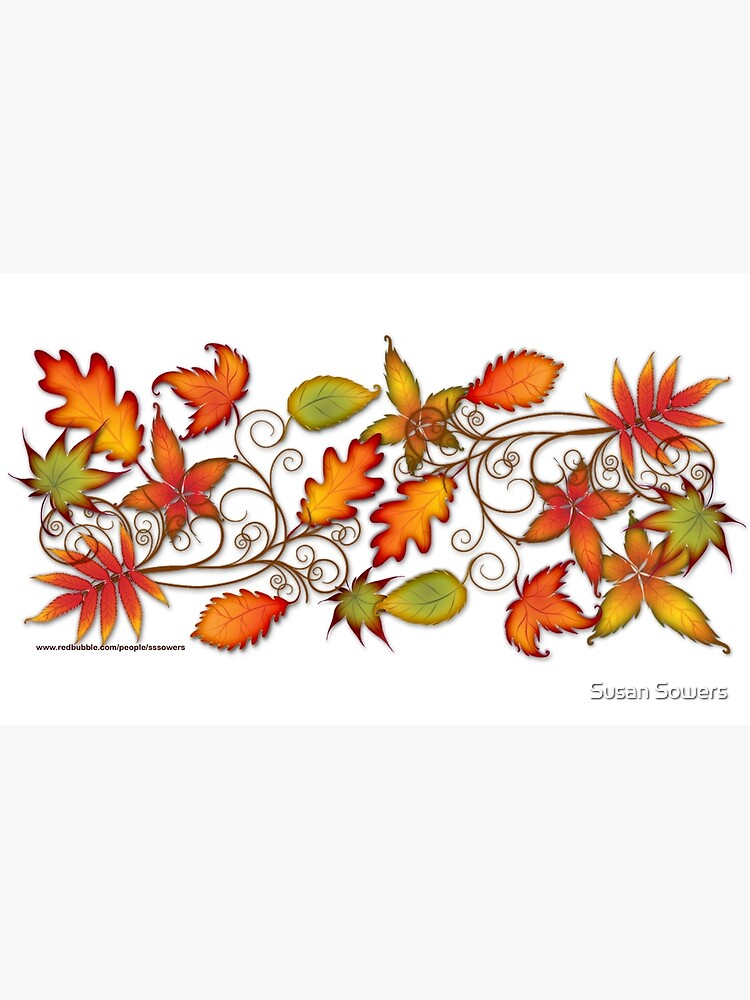 Autumn Leaves - panel by SSSowers