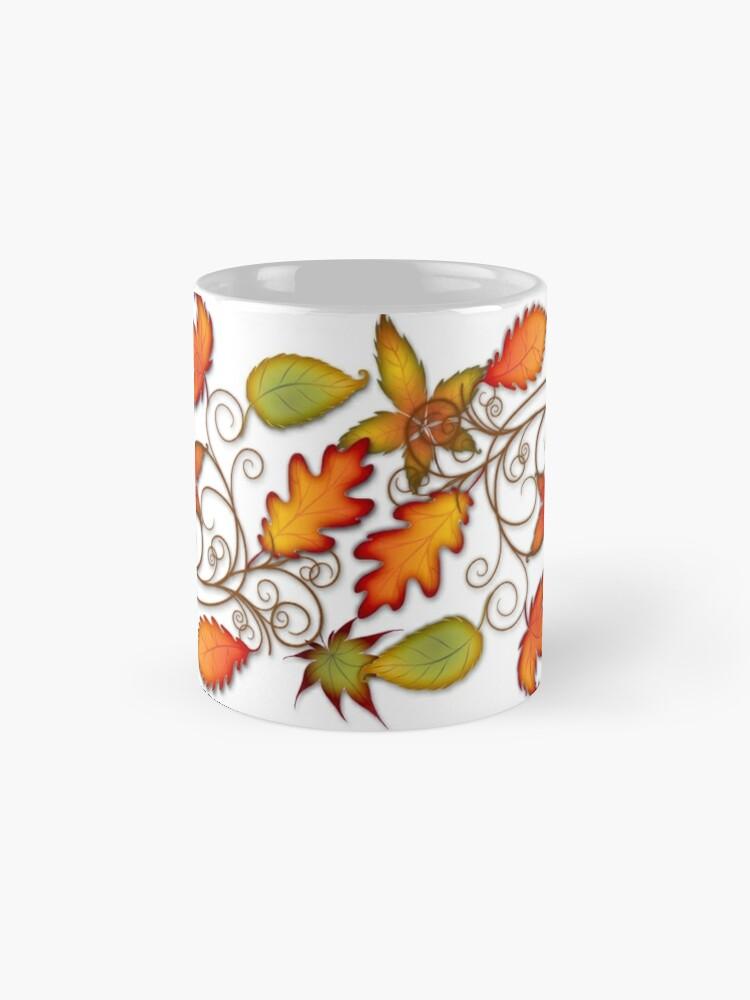 Alternate view of Autumn Leaves - panel Mug