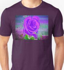 Purple rose birthday card Unisex T-Shirt
