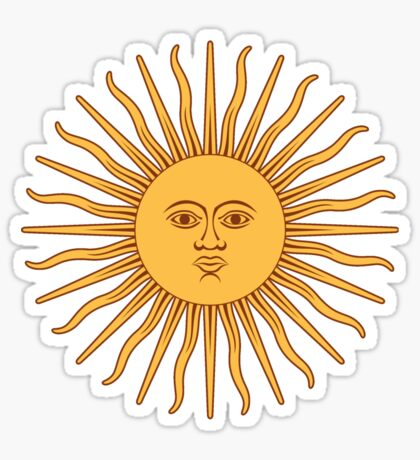 Sol de Mayo- The Sun of May Sticker