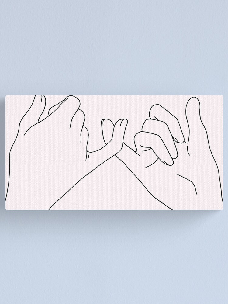 Alternate view of pinky promise Canvas Print