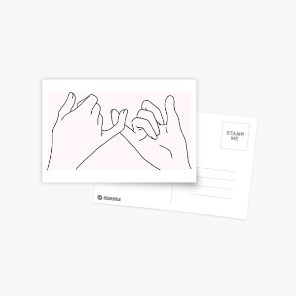 pinky promise Postcard