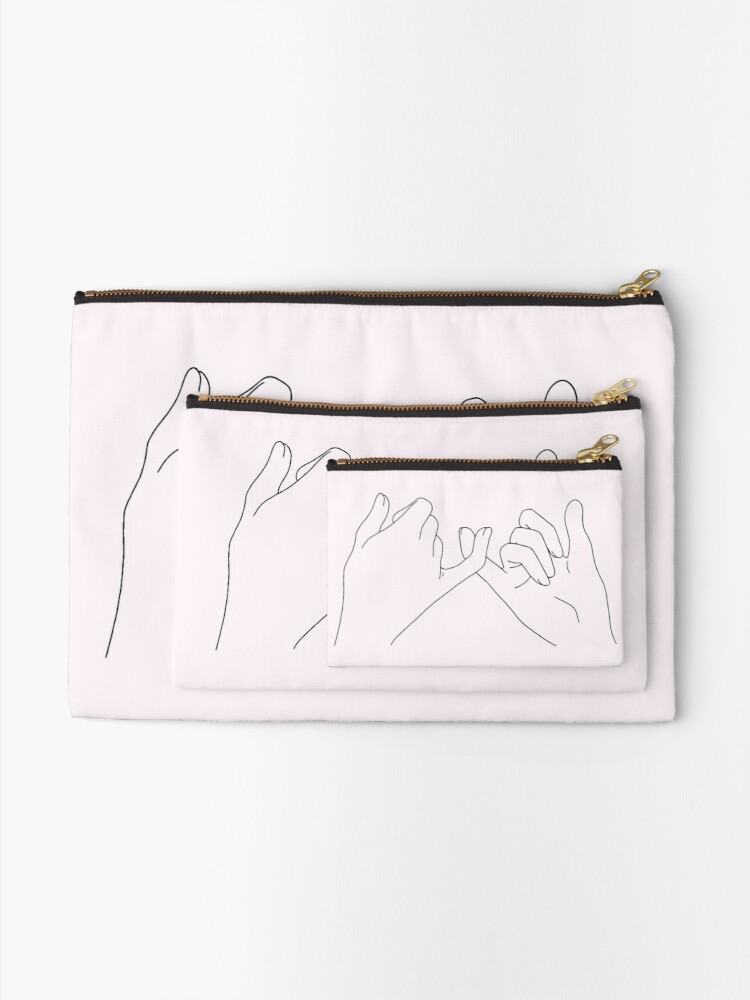 Alternate view of pinky promise Zipper Pouch
