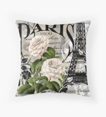 Paris Blanc II Throw Pillow