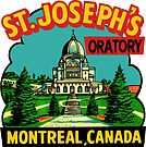 St Joseph's Oratory Montreal Canada Vintage Travel Decal by hilda74