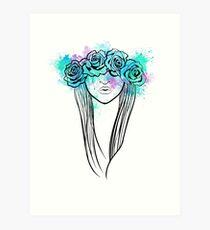 Elegant Mask - Light Background Art Print