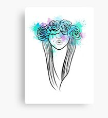 Elegant Mask - Light Background Metal Print